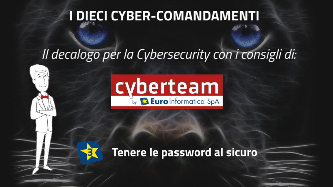 Tenere le password al sicuro – I Dieci Cyber Comandamenti