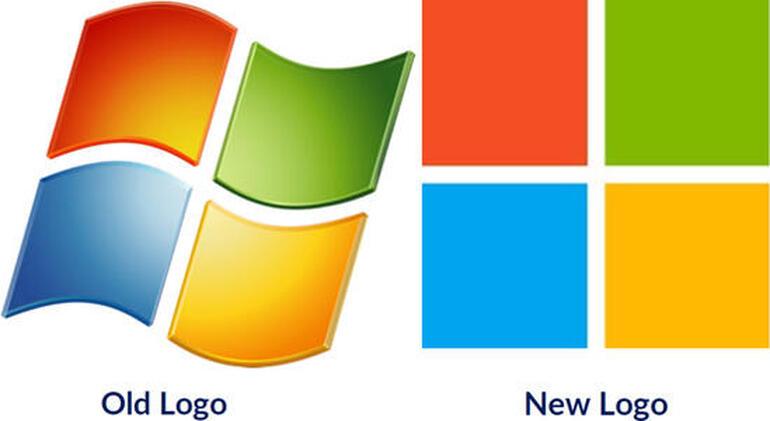 Logo Microsoft vecchio e nuovo