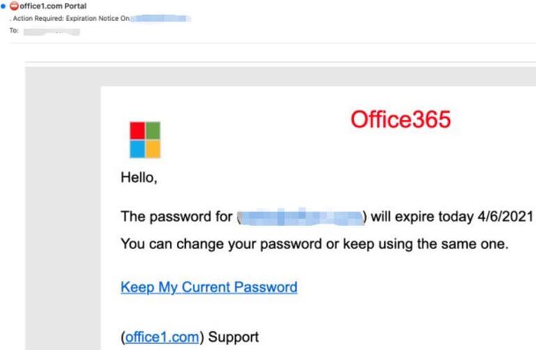 Messaggio Office 365