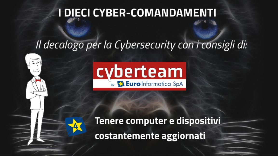 Tenere computer e dispositivi costantemente aggiornati – I Dieci Cyber Comandamenti