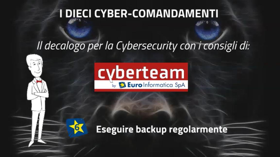 Eseguire backup regolarmente – I Dieci Cyber Comandamenti