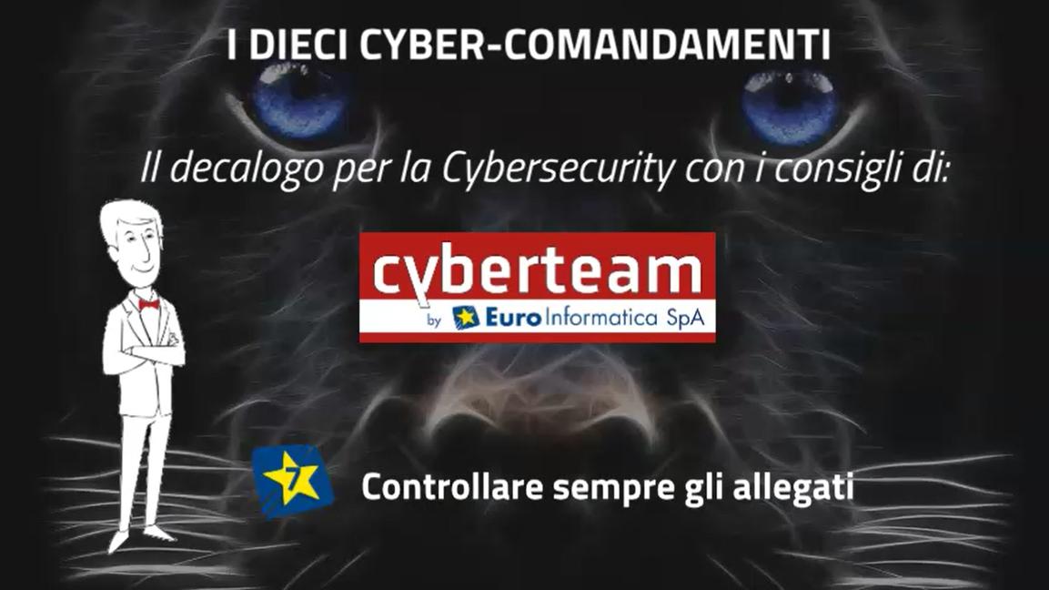Controllare sempre gli allegati – I Dieci Cyber Comandamenti